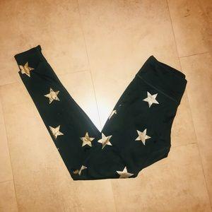 Jessica Simpson Green Small Star Leggings